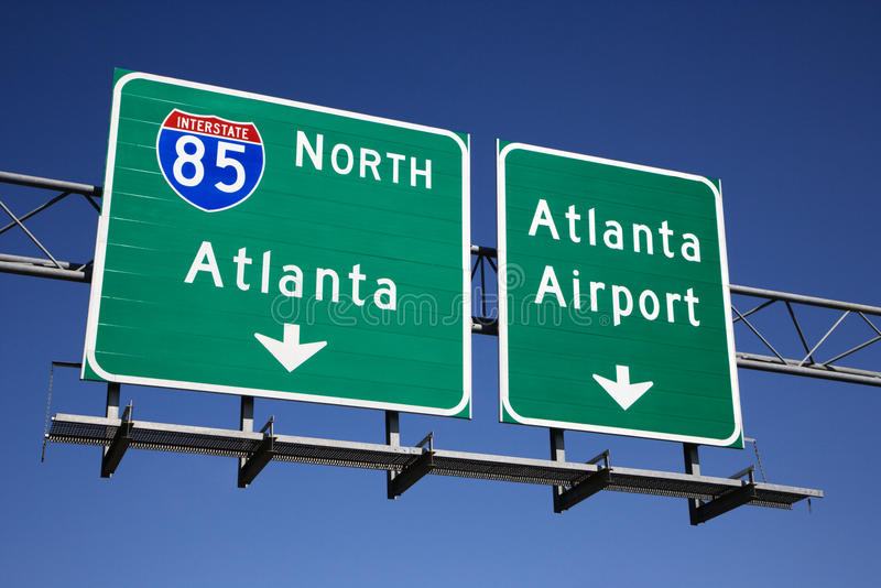 Atlanta Freeway Signs stock image