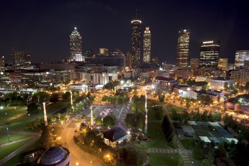 Atlanta Geórgia que negligencia o parque olímpico centenário fotos de stock
