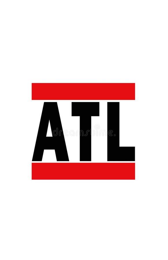 Atlanta, Georgië vector illustratie