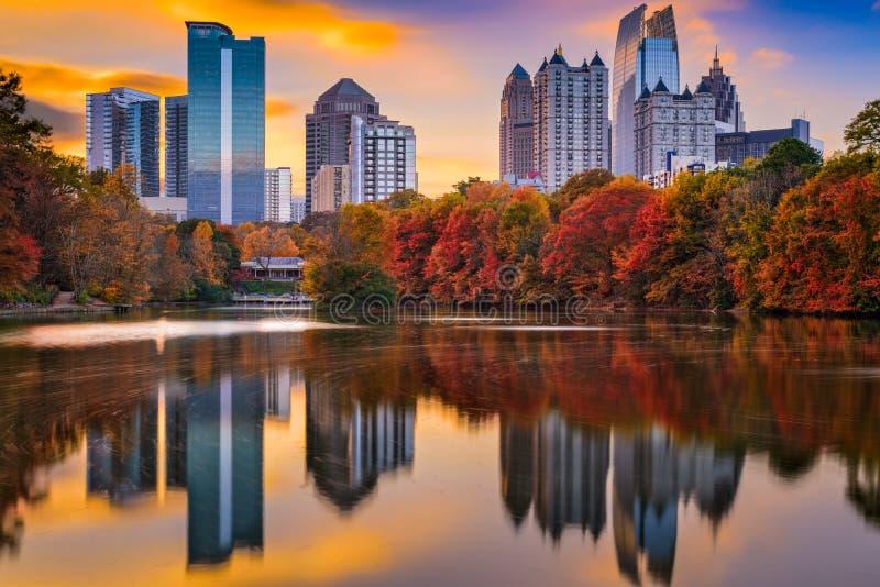 Atlanta Georgia Autumn. Atlanta, Georgia, USA Piedmont Park skyline in autumn