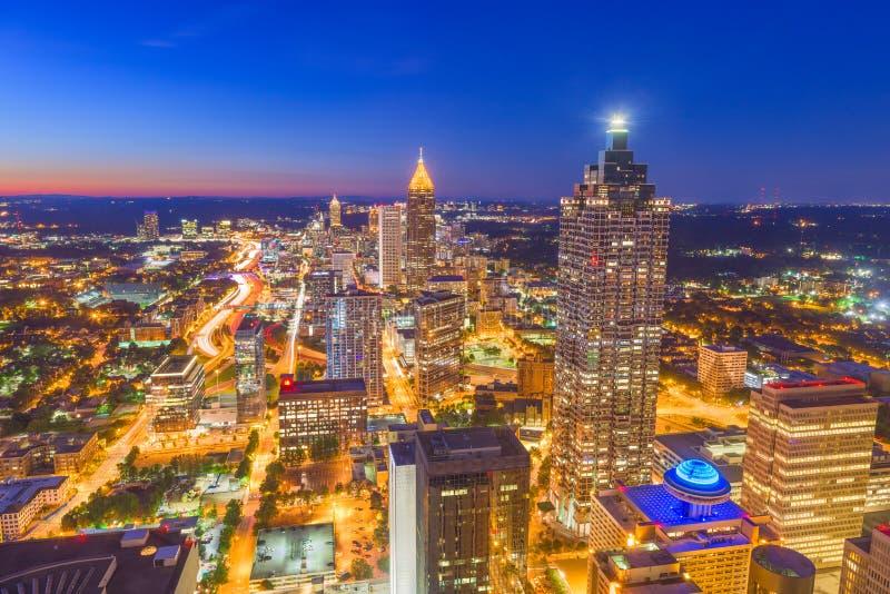 Atlanta, Georgia, orizzonte di U.S.A. immagini stock libere da diritti