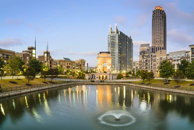 Atlanta Georgia på den atlantiska stationen arkivfoton