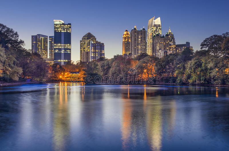 Atlanta, Georgia Piedmont Park Skyline fotografia stock