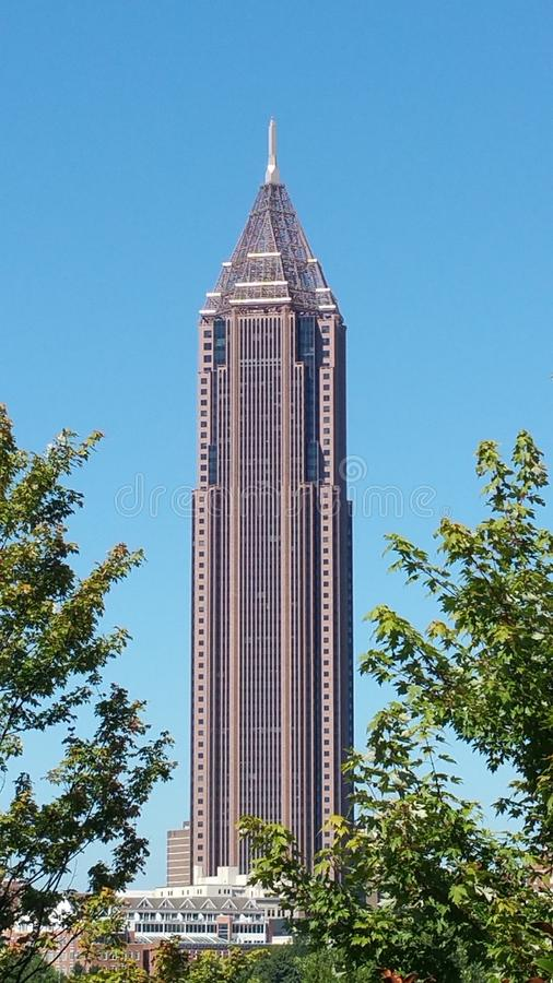 Atlanta Georgia Skyline Tallest Building stock afbeeldingen