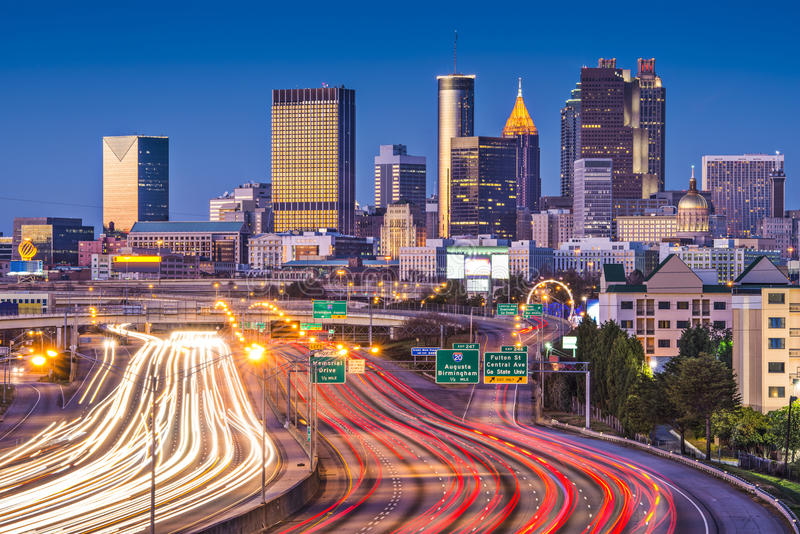 Download Atlanta, Georgia Skyline stock image. Image of night - 36645899