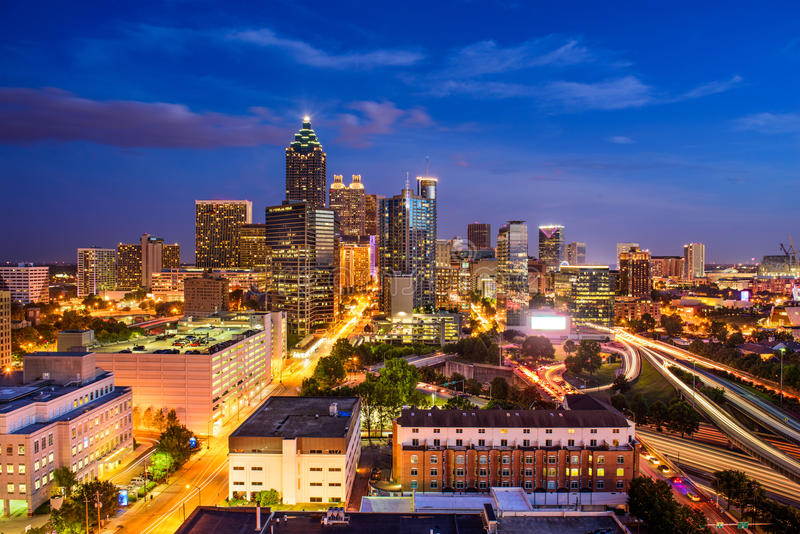 Atlanta, Georgia Skyline royalty free stock photos
