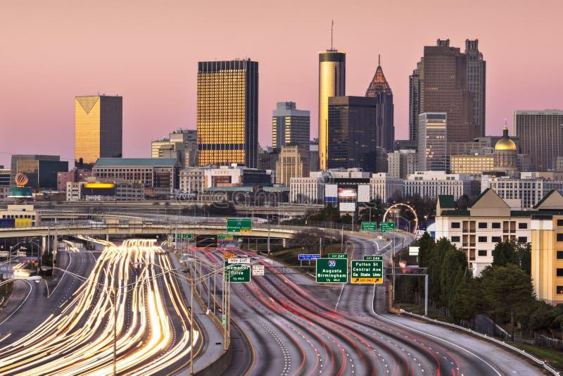 Download Atlanta, Georgia Skyline stock image. Image of rush, cities - 37096495