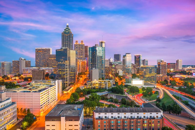 Atlanta Georgia, USA royaltyfri fotografi