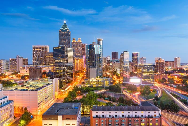 Atlanta, Georgia, USA downtown cityscape from above stock image
