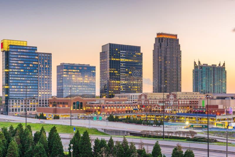 Atlanta, Georgia, USA downtown cityscape in Atlantic Station royalty free stock photo