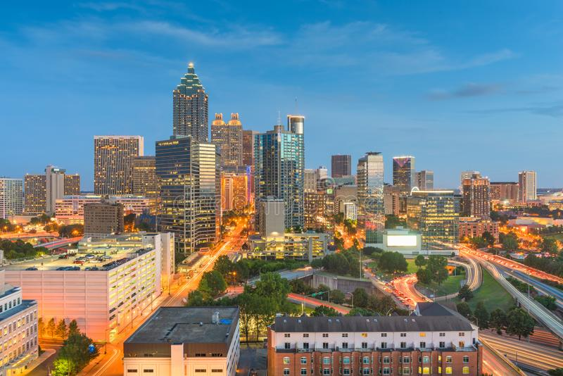 Atlanta, Georgia, USA Downtown Skyline royalty free stock photography