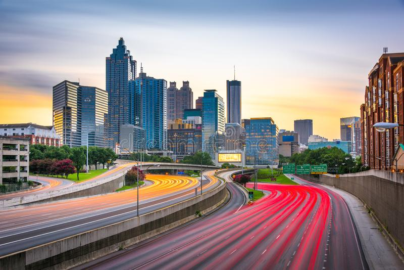 Atlanta, Georgia, USA downtown skyline royalty free stock image