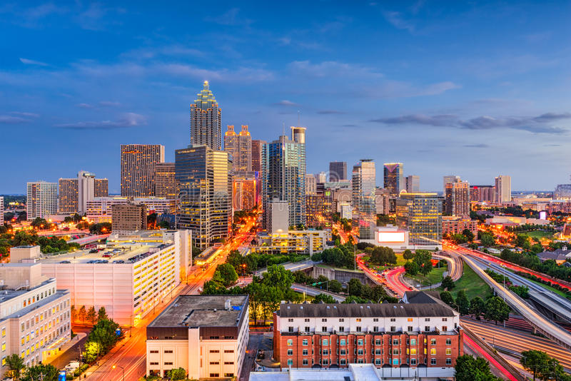 Atlanta Gruzja linia horyzontu obraz stock