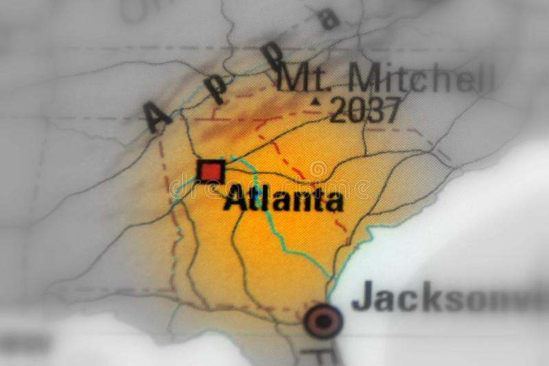 Atlanta, Gruzja, Stany Zjednoczone U S obraz royalty free