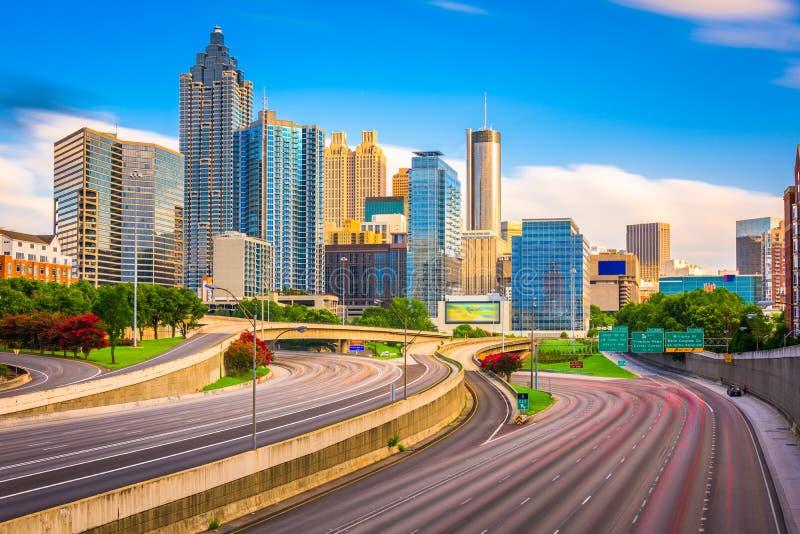 Atlanta, Gruzja, usa linia horyzontu fotografia stock