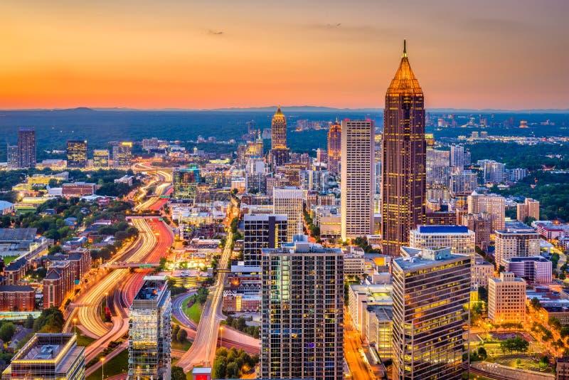 Atlanta, Gruzja, usa linia horyzontu obraz royalty free