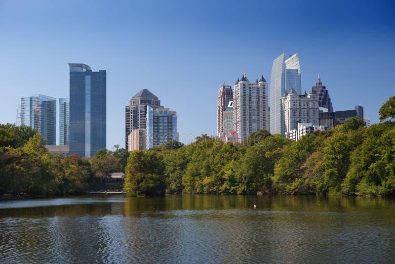 Atlanta, im Stadtzentrum gelegen. lizenzfreie stockfotografie