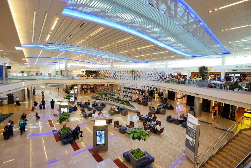 Atlanta internationell flygplats fotografering för bildbyråer
