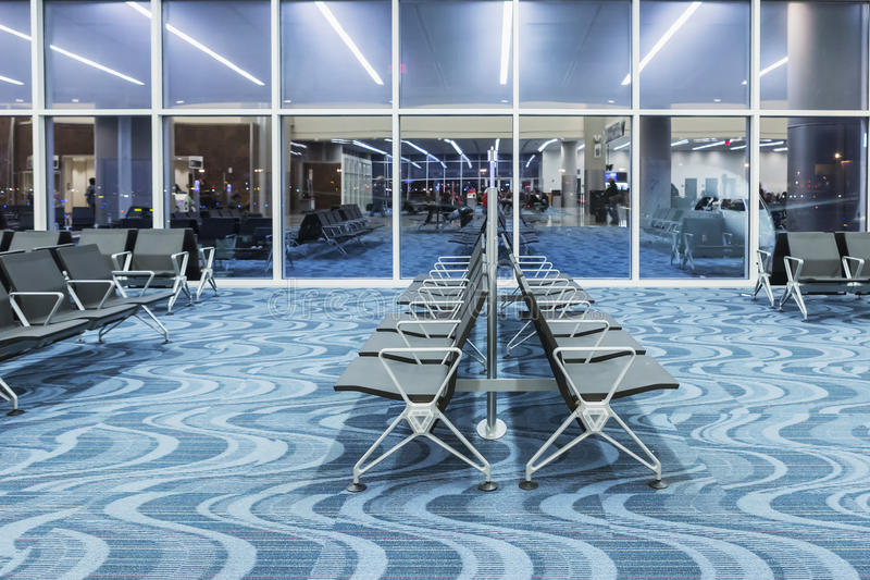 ATLANTA - January 19, 2016: Atlanta International Airport, interior, GA. Serving 89 million passengers a year. Atlanta International Airport, interior, GA royalty free stock images