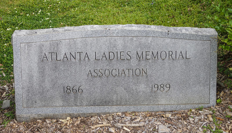 Atlanta Ladies Memorial at Cemetery - ATLANTA, GEORGIA - APRIL 21, 2016 stock photo