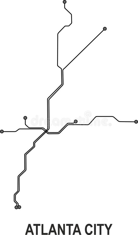 Atlanta metra miasta mapa royalty ilustracja