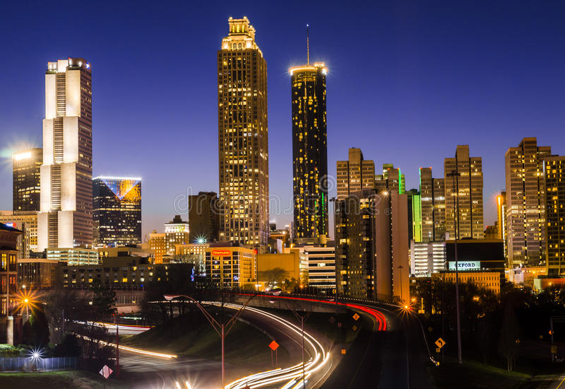 Atlanta miasta linia horyzontu fotografia royalty free