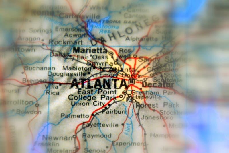 Atlanta, miasto w USA obrazy stock