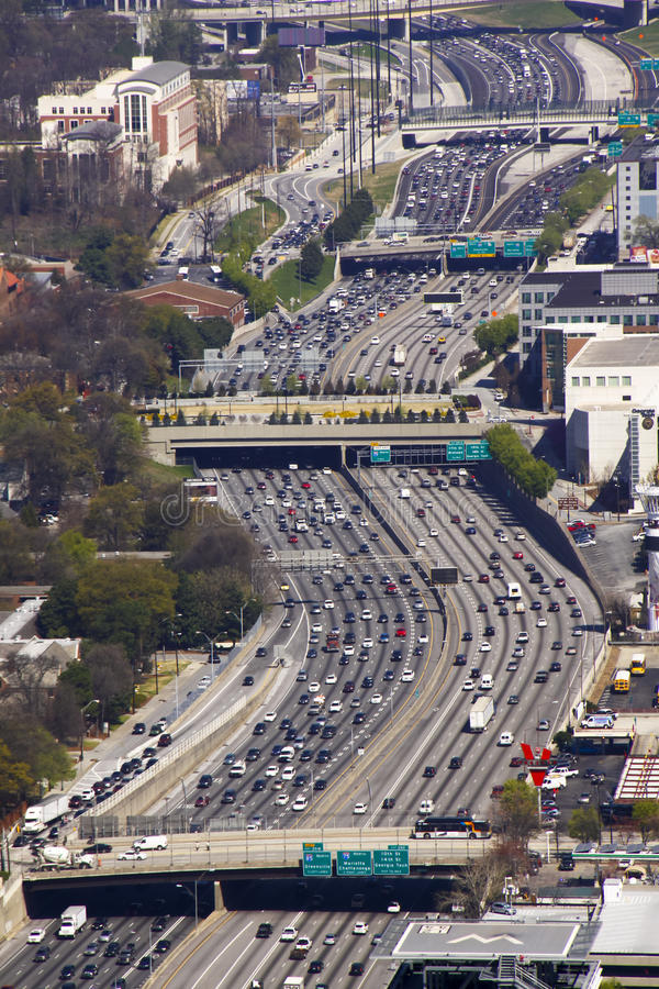 Atlanta - Midday Traffic Congetion stock photography