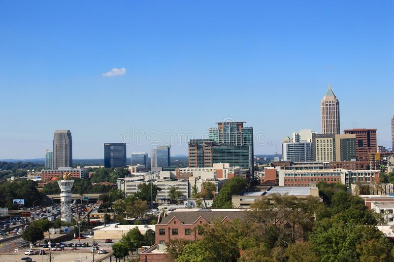 Atlanta Midtown Skyline, USA stock photography