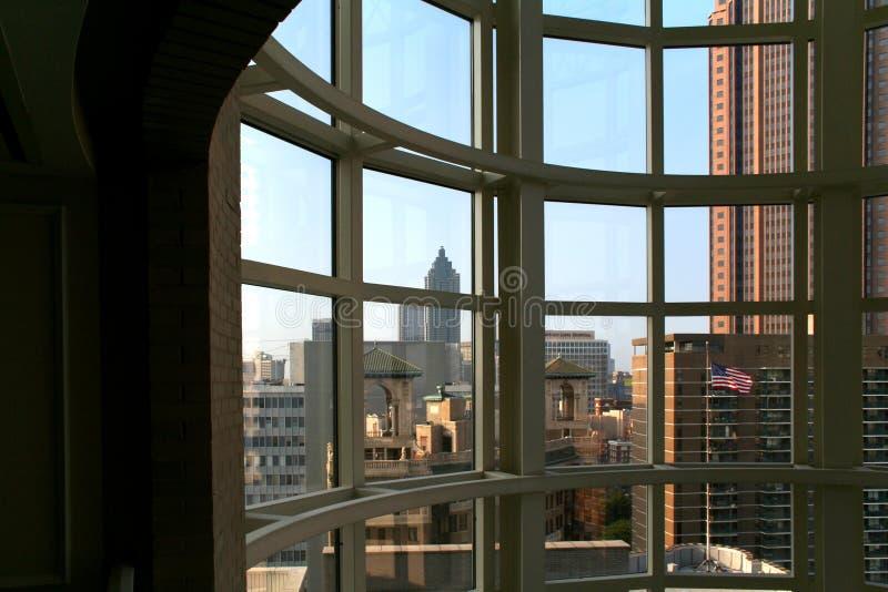 atlanta okno zdjęcie stock