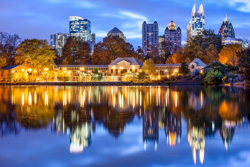 Atlanta, paisaje urbano de Georiga fotos de archivo