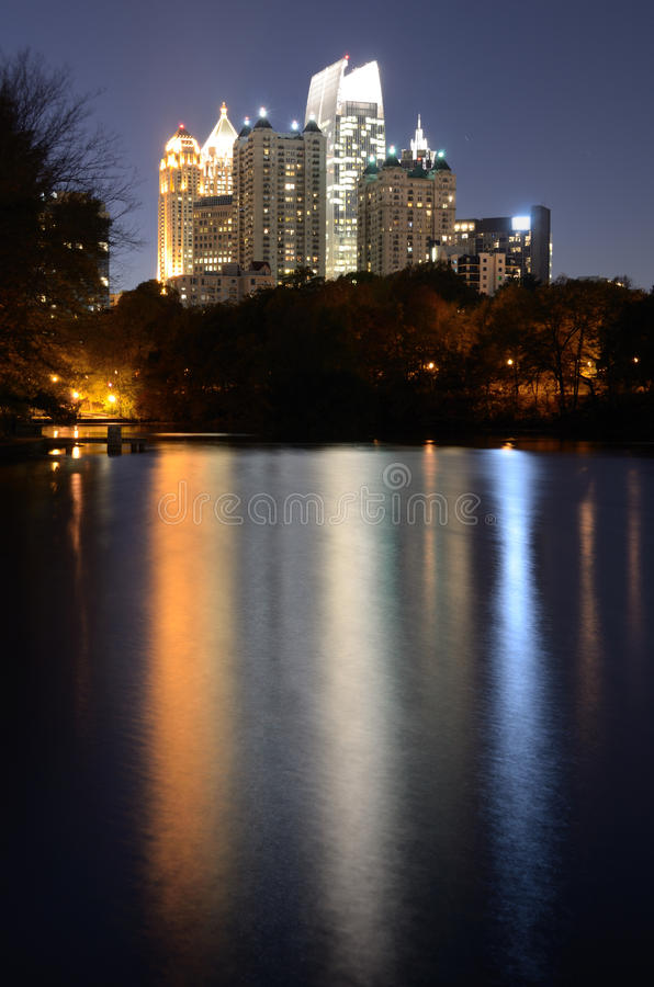 Atlanta From Piedmont Park stock images