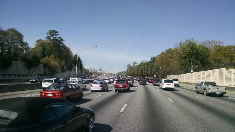 Atlanta ruchu drogowego midday zdjęcie royalty free