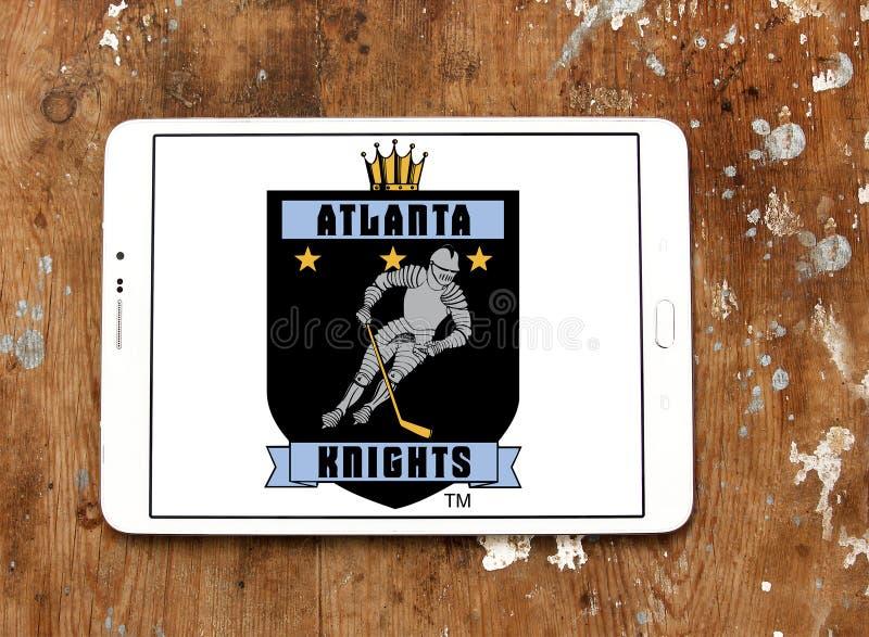 Atlanta rycerzy drużyny hokejowej lodowy logo zdjęcia royalty free