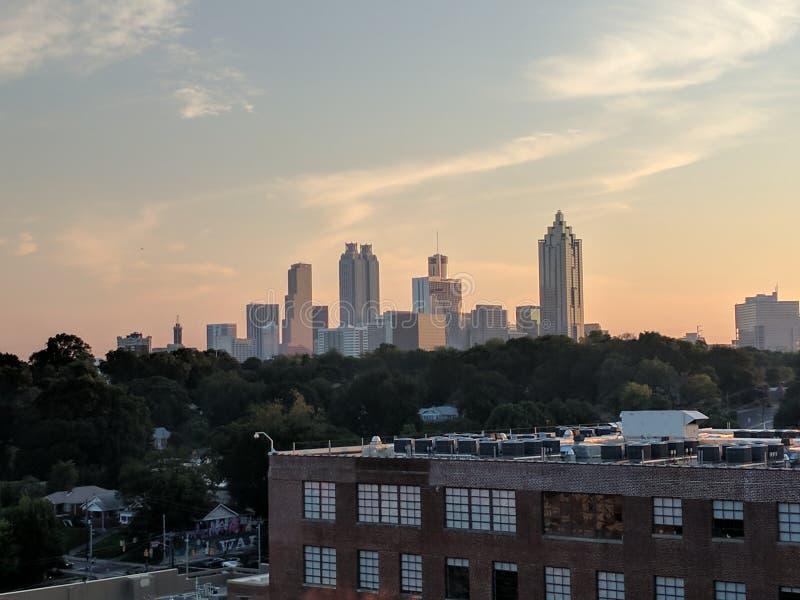 Atlanta skykine zdjęcia stock