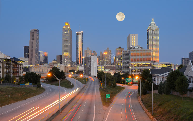 Atlanta-Skyline stockfotos