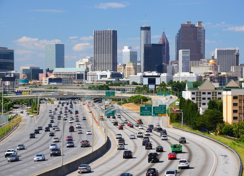 Atlanta skyline stock images