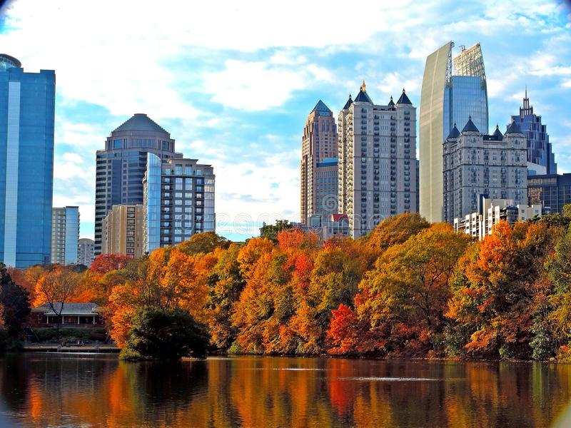 Atlanta Skyline royalty free stock photos