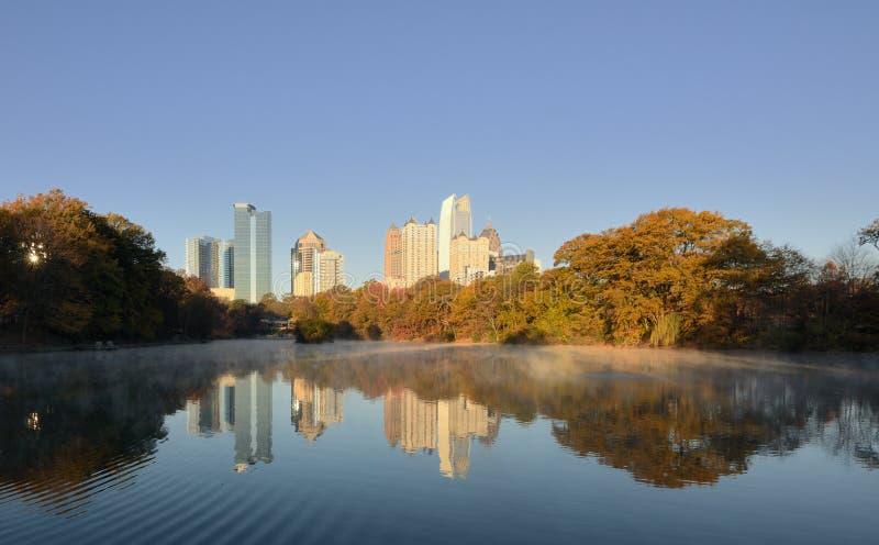 Atlanta Skyline Reflections stock images