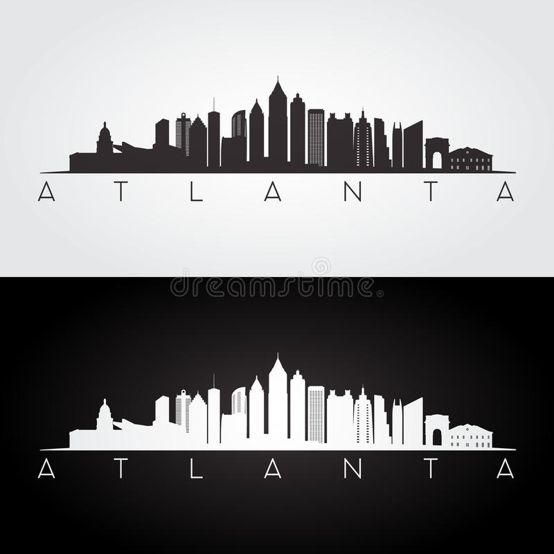 Atlanta skyline silhouette royalty free illustration