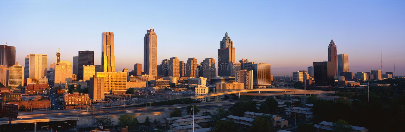 Download Atlanta Skyline at sunset editorial stock image. Image of skyline - 23159614