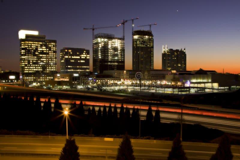 Atlanta-Sonnenuntergang lizenzfreie stockbilder