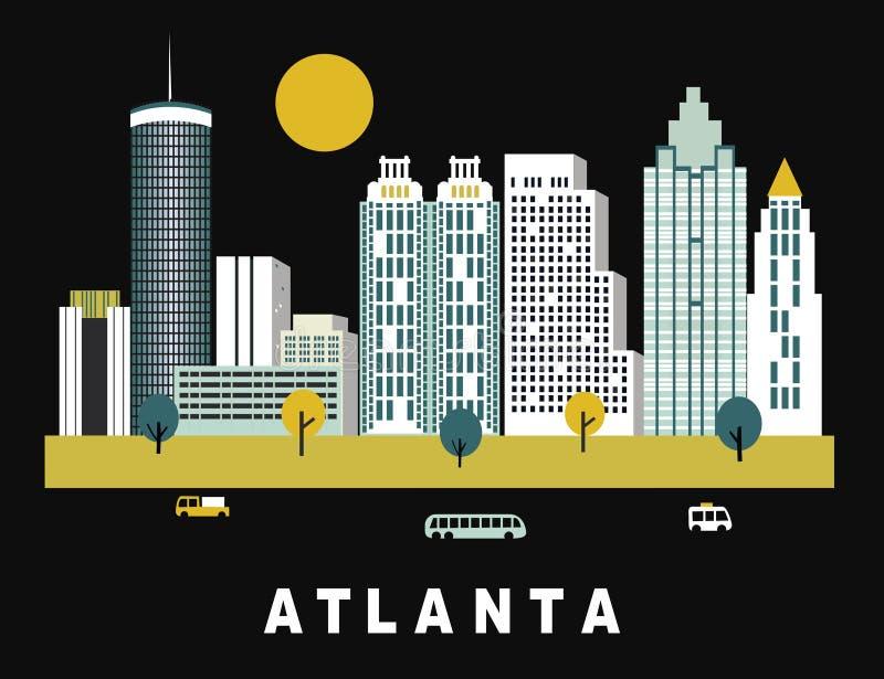 Atlanta stad Georgia royaltyfri illustrationer