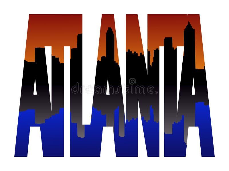 Atlanta text with Skyline stock illustration