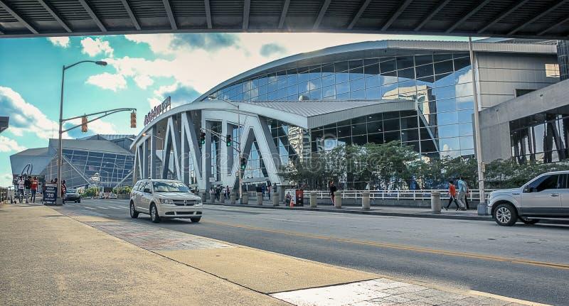 Atlanta utkast fotografering för bildbyråer
