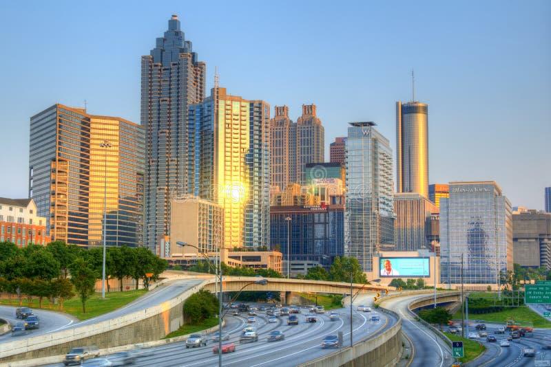 Atlanta van de binnenstad, Georgië stock foto