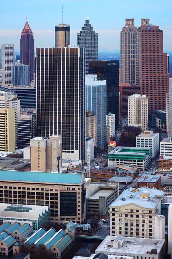 Atlanta& vertical x27 ; noyau du centre de s image stock