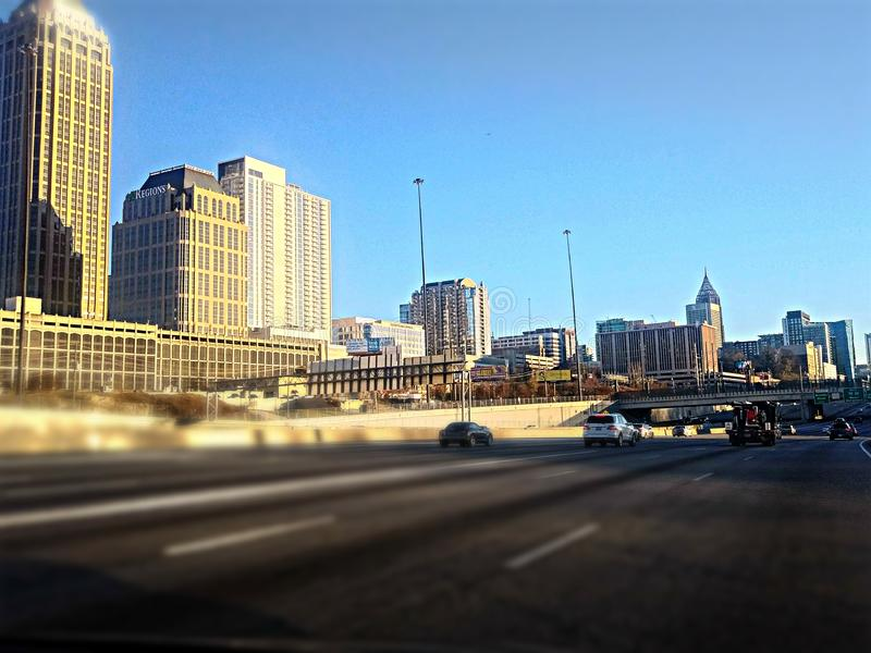 Atlanta während einer Tagesfahrt stockfotografie