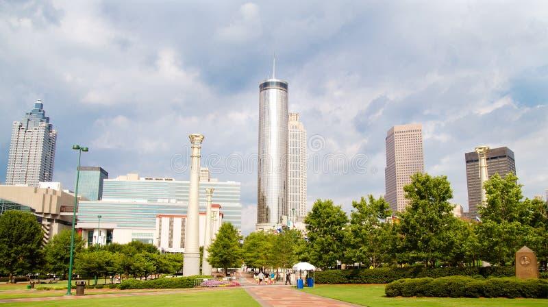 Atlanta w centrum linia horyzontu obrazy stock