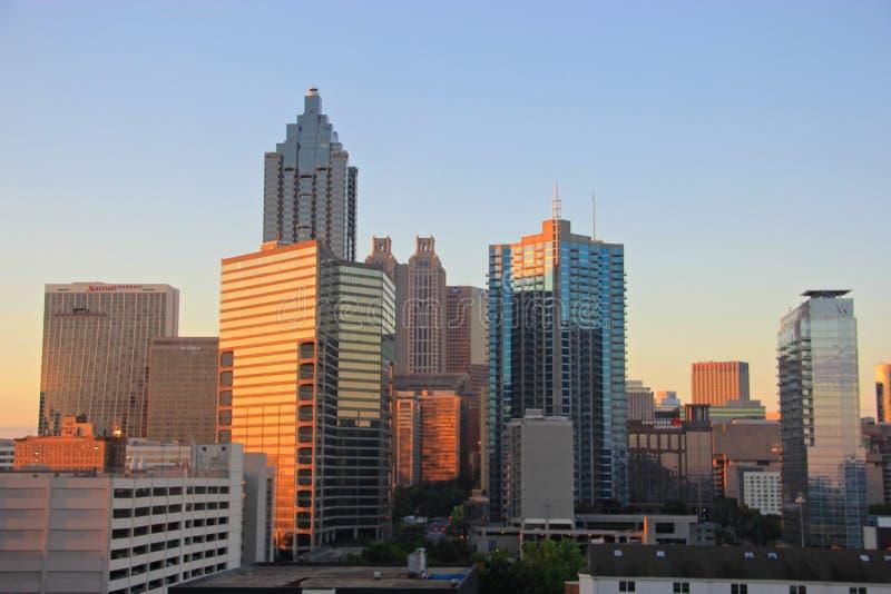 Atlanta W centrum linia horyzontu, usa fotografia royalty free